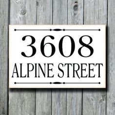 Address Plaque,Custom House Number Sign,Outdoor Street Porch Drive Directional Sign,Patio Yard Lamp Post Sign,New Home Housewarming Gift