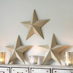 wooden hanging star by red lilly | notonthehighstreet.com