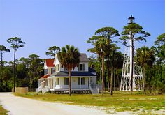 Cape San Blas lighthouse keepers' homes after reconstruction.