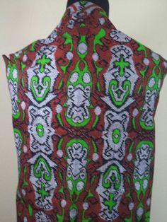 Kain Batik Motif Hijau Coklat Batik Cap tradisional handmade, bahan katun, ukuran: 1,15 x 2m