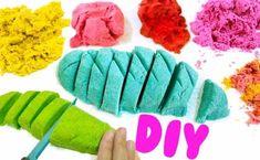 kinetic sand selber machen bunt färben diy ideen für kinder