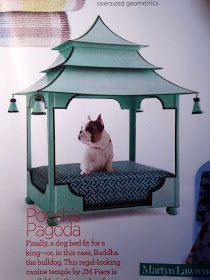 If money is no object when it comes to your pooch, this tole pagoda dog bed is too fabulous. By JM Piers, it is available here at Dalton . Pet Beds, Dog Bed, Doggie Beds, Dog Furniture, Furniture Ideas, Dog Houses, Diy Stuffed Animals, Dog Accessories, Dog Friends