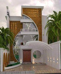 Top Amazing Modern House Designs - Engineering Discoveries Best Modern House Design, Modern Exterior House Designs, Minimalist House Design, Modern House Plans, Minimalist Home, Exterior Design, Bungalow Haus Design, Duplex House Design, House Front Design