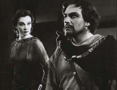 "Vivien Leigh and Laurence Olivier, RSC production of Macbeth, 1955 ""Your face, my thane, is as a book where men May read strange matters."""