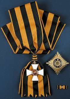 Order of St. George, class with star and sash RF Military Awards, Military Uniforms, Military Decorations, Military Orders, Grand Cross, Saint Georges, Imperial Russia, Royal Jewelry, Chivalry
