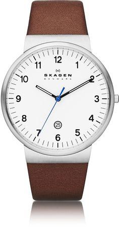 de6c58af647 Skagen Ancher Round Steel Case Men s Watch w Leather Strap  185.00 Actual  transaction amount