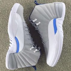 Look Out For The Air Jordan 12 Grey/University Blue