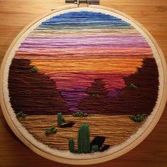 Arizona Sunset • 5 inch • Available on Etsy- linked in bio ✨ • • • • #embroidery #embroideryart #embroidered #embroiderythread #embroideryhoop #embroideryhoopart #etsy #etsyshop #etsyfinds #instagood #sunset #desert #cactus #succulents #arizona #pretty #love #cactusart #wallhanging #gradient #makersmovement #makersgonnamake #handmade #vintagelook #homedecor #wallart #desertlandscape #artsy #artstagram #artistsoninstagram