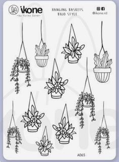 Floral Illustration And Doodle Bullet Journal Ideas Pages, Bullet Journal Inspiration, Hanging Plants, Hanging Flower Pots, Plants Indoor, Air Plants, Potted Plants, Cactus Plants, Garden Plants