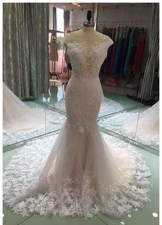 V Back Mermaid Wedding Dress