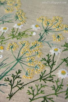 Pretty embroidered flowers!