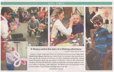Nice recap of our Take Your Child to the Library Day in the arts & leisure section of the Times Beacon Record newspapers this week.