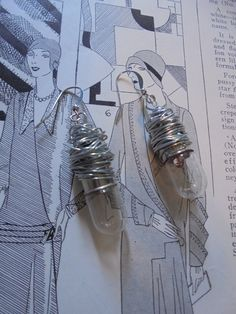 Upcycled repurposed light bulb earrings, steampunk, junk jewelry by salvagegardener on Etsy