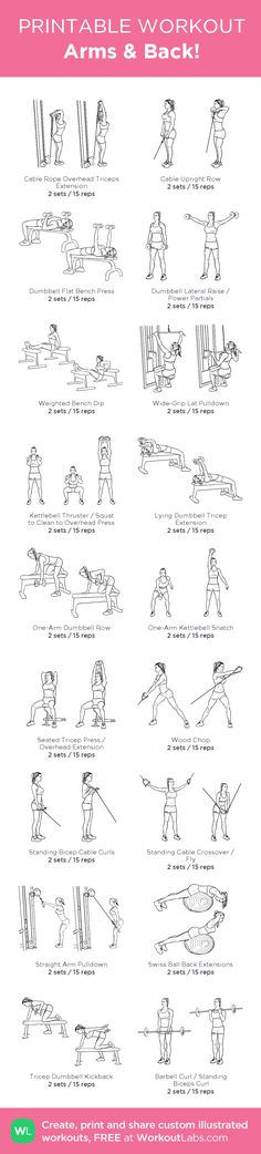 Arms & Back! – my custom workout created at WorkoutLabs.com • Click through…