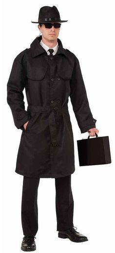 Spy Trench Coat Costume - Adult