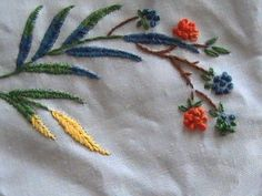 simple hand embroidery designs for tablecloth Here's one quarter of