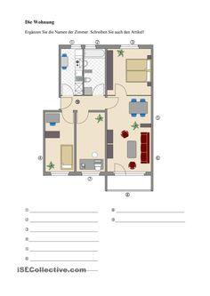 Die Wohnung - Zimmer benennen