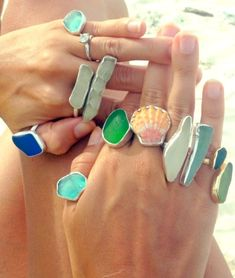 Beach Rings by Washed Up Jewelry