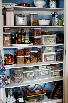 We love @Cookin' Canuck Dara Michalski's beautiful pantry and tutorial: How to: Organize Your Pantry - before & after pictures