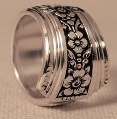 Fortune Silver Spoon Ring 1939 Vintage Silver Spoon Pattern Jewelry Available in Ring Sizes 6, 7, 8