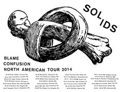 Now's your change to check out the guitar and drum duo from Montreal, SOLIDS! The band has just announced a huge North American tour in support of their debut album, Blame Confusion (out Feb Chapel Hill Nc, American Tours, Confusion, Debut Album, Blame, Montreal, Drum, Guitar, Change