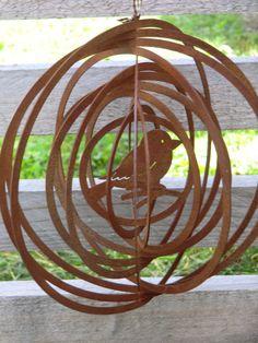 Vogel Mobile Hänger Edelrost,Windspiel,Gartendeko Von Little Things Auf  DaWanda.com