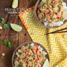 Peanut Sauce Chicken Stir-Fry
