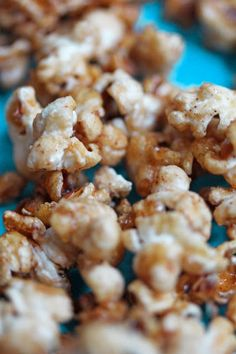 Have some tailgating fun or just fun with your snack making with this healthy caramel apple popcorn from my babycake recipe line!