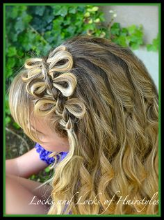 Locks and Locks of Hairstyles: Quick and Easy Video Tutorials: French Bow Headband