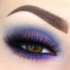 Purple smokey eye is pretty popular nowadays. A big number of women and girls fancy doing this eye makeup! #makeup #makeuplover #makeupjunkie #smokyeyes