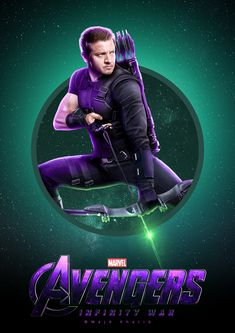 "Avengers ""Infinity War"" Marvel Comics, Marvel Comic Books, Marvel Heroes, Marvel Dc, Marvel Movie Posters, Marvel And Dc Characters, Hawkeye Avengers, Marvel Entertainment, Jeremy Renner"