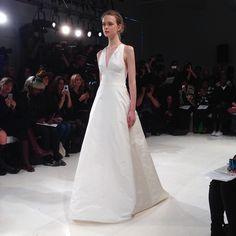 A stunning halter. Gown by Amsale