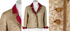 1957 Chanel couture gold and ivory brocatelle jacket