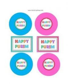 Purim tags for gifts or cupcake flags!