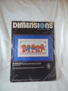 Vintage Dimensions The Bear Baller  3578 Counted Cross Stitch