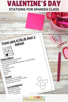 Spanish Valentine's Day Feliz Día de Amor y Amistad BUNDLE