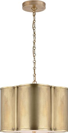 Visual Comfort Alexa Hampton 2 Light Hanging Shade in Natural Brass AH5216NB