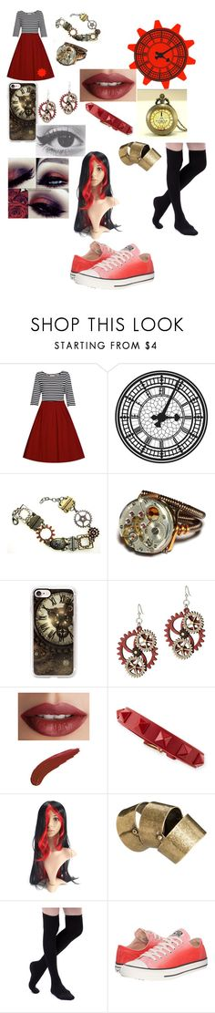 """""""Time"""" by squidkidthefangirl ❤ liked on Polyvore featuring Casetify, TheBalm, Valentino, Just Acces and Converse"""