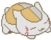 Nyanko-Sensei / Madara from Natsume Yuujinchou / Natsume's Book of Friends Anime / Manga Cross Stitch Pattern PDF