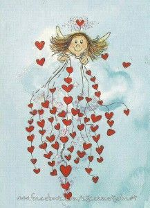 Angel of hearts.my sweet darling Angel Vylette Moon ❤️🌙❤️ Art Fantaisiste, I Believe In Angels, Angels Among Us, Guardian Angels, Angel Art, Heart Art, Whimsical Art, Illustration Art, Sketches