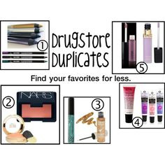Drugstore Duplicates for Makeup
