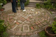 Crazy quilt paving. From Rhone Street Gardens.