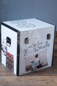 Κουτί βάπτισης για αγόρι και κορίτσι μπαουλάκι vintage