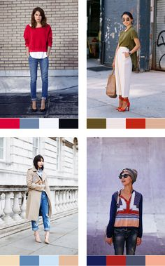 How to pair colours: Complementary colour palettes Capsule Wardrobe, Build A Wardrobe, Wardrobe Basics, Wardrobe Ideas, Color Pairing, Color Combinations, Color Type, Color Mix, Monochrome Color