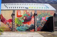 Portland, USA by Mexican artist Curiot (Photo by Matt)   summer street art