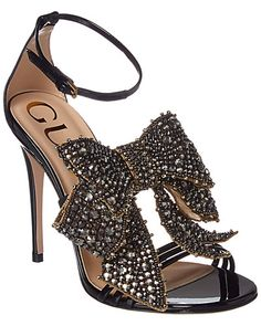 Zappos Women S Luxury Shoes Black High Heel Sandals, Ankle Strap High Heels, Bow Sandals, Heeled Sandals, Stilettos, Cute Shoes, Me Too Shoes, Black Patent Leather Shoes, Leather Sandals