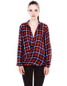 CHECK PRINT CROSSOVER SHIRT - NEW PRODUCTS - WOMAN - PULL&BEAR Spain