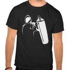 Graffiti writer with spray can stencil tshirts T Shirt, Hoodie Sweatshirt