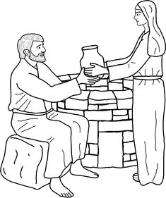 Mws l1 coloring pagejesus and the woman at the well First Look