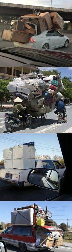 Wozu einen Transporter mieten, wenn es auch so geht?   Webfail - Fail Bilder und Fail Videos